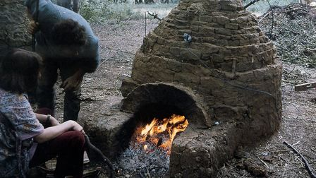 A mock-up roman kiln in Highgate Wood. Picture: Friends of Highgate Wood Roman Kiln