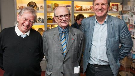 Lifelines at Burgh House with Gerry Isaaman, former editor of the Ham&High . Left to right, three ed