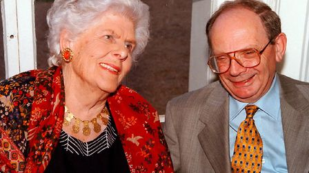 Peggy Jay with former editor of the Ham&High Gerry Isaaman. Picture: Nigel Sutton