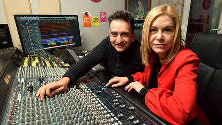 Brian and Deanna Bogdanovic at Bonafide Studios which is celebrating its 20 year. Picture: POLLY HAN