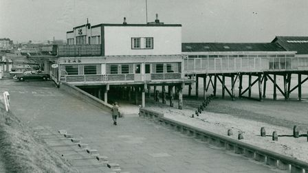 The entrance to Claremont Pier at Lowestoft on November 27, 1963. 1963. Photo: Archant Library
