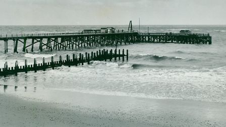 Claremont Pier closed for repairs. Picture taken on January 26, 1965. Photo: Archant Library