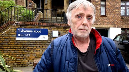 James Walsh outside his Homes for Haringey supported living flat in Avenue Road. Picture: Polly Hanc
