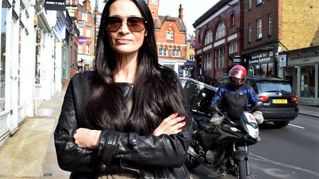 Resident Charlotte Lewis is drawing attention to the constant presence and nuisance of moped deliver
