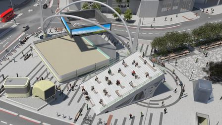 TfL's plans for the new-look Old Street station entrance. Islington Council is still choosing a desi