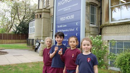 Young Highgate School pupils have been installing diffusion tubes to measure air quality. Picture: H