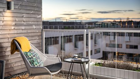 Many of the apartments offer balconies with stunning views