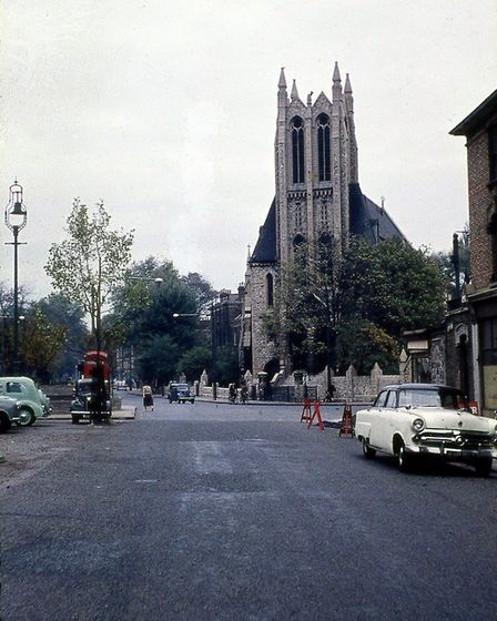 Frederick Wirth's photo of Green Lanes Methodist Church in the 60s before it was pulled down