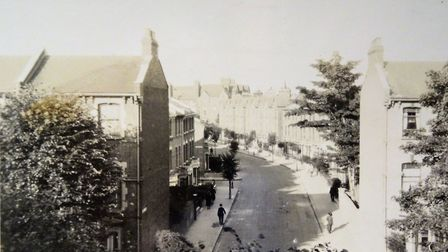 Frederick Wirth's picture of the view outside his home in 201 Albion Road around 1918