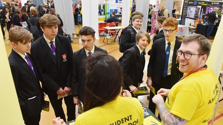 Students from Ormiston Denes Academy attend a careers fair at the school. Picture: Nick Butcher