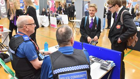 Students from Ormiston Denes Academy attend a careers fair at the school.Picture: Nick Butcher