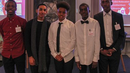 The boys who took part in the project: Ridwan Abdilla, aged 14, Christivie Bwana, aged 13, Jaquan B
