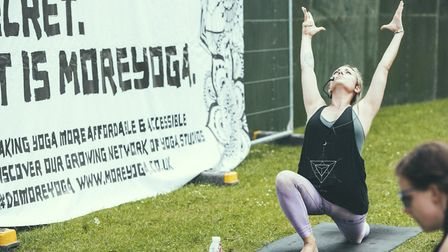 MoreYoga will be on hand to run free 45-minute yoga sessions for all abilities. Picture: Rory James.