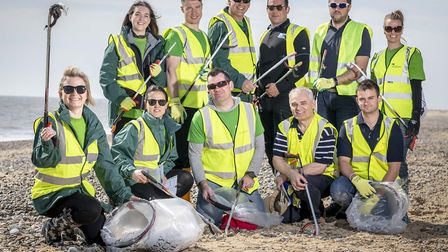 ScottishPower Renewables and its associates came together to clear Kessingland beach as part of the