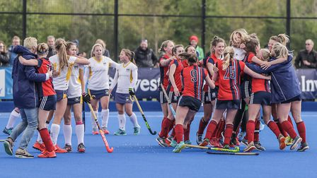 Hampstead & Westminster celebrate against Stourport (pic Mark Clews)