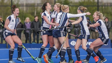 Hampstead & Westminster celebrate against Loughborough (pic Mark Clews)