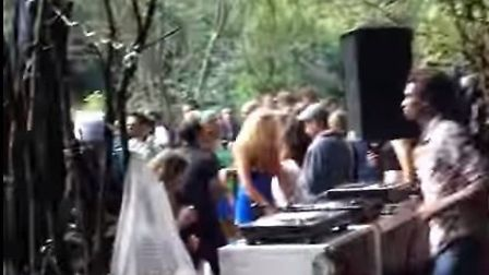 A rave in Hackney Wick woodland organised by Keep On Going