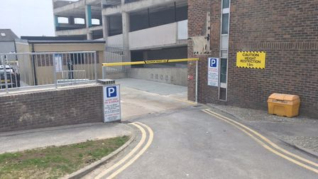 A temporary car park has opened on the former site of Battery Green car park. Photo: James Carr.
