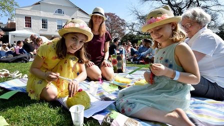 The annual Easter Egg making, Egg rolling and Easter Egg hunt at Lauderdale House Highgate N6 on 21