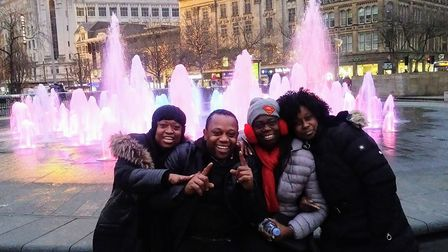 Steve with his family in London earllier this year.