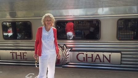 Sally Emerson Boards The Ghan