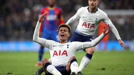 Tottenham Hotspur's Dele Alli reacts during the Premier League match against Crystal Palace at the T