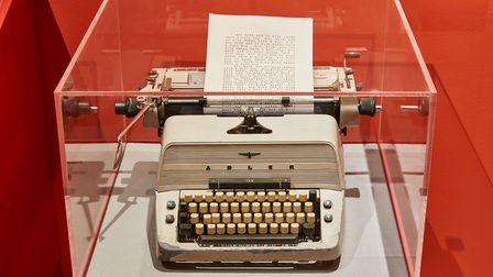 Jack's Typewriter from The Shining part of The Kubrick Exhibition at The Design Museum Picture Ed Re
