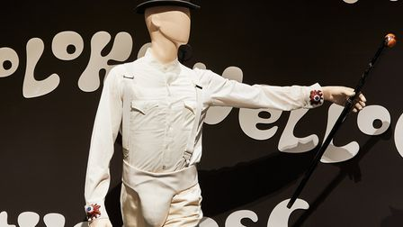 Alex's costume from A Clockwork Orange part of The Kubrick Exhibition at The Design Museum Picture E