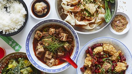 Sample dishes from the entirely plant-based Mao Chow, on Mare Street. Picture: Mao Chow.