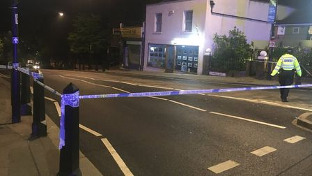 Muswell Hill was closed off after the stabbing last night. Picture: Liam Coleman