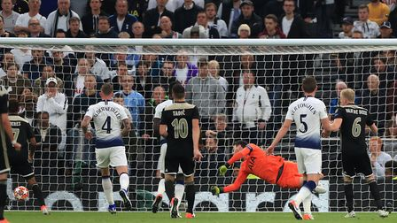 Ajax's Donny van de Beek (right) scores his side's first goal of the game during the Champions Leagu