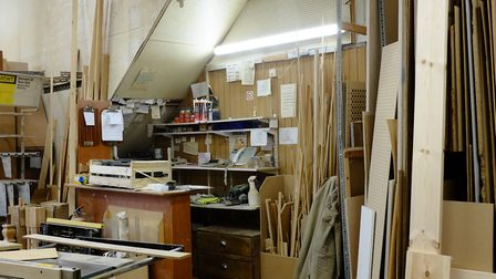 The counter and workbench at Thomerson. Picture: David Winskill