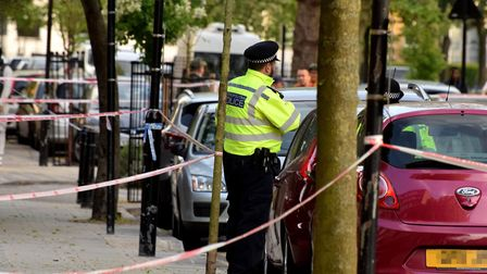 A police cordon in Frampton Park Road on Friday afternoon. Picture: Polly Hancock