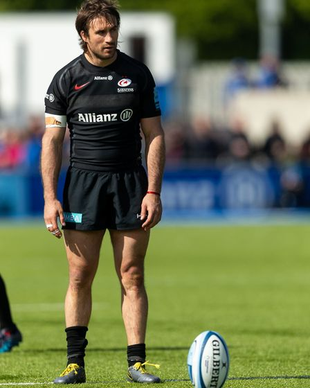Saracens' Marcelo Bosch during the Gallagher Premiership match at Allianz Park, London.