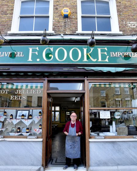 Bob Cooke, 71, the fourth generation of Cookes to run the Pie and Mash shop in Broadway Market. Pict