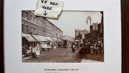 A postcard of the shop in 1910