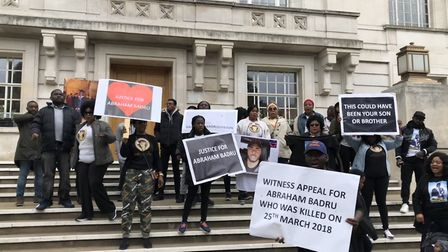 """""""We want justice"""": Abraham Badru's family and friends call for help to trace his killers outside Hac"""