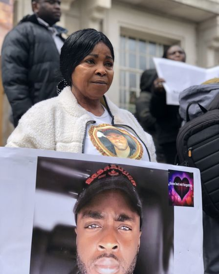 """""""We want justice"""": Abraham Badru's mother Ronke calls for help to trace his killers outside Hackney"""