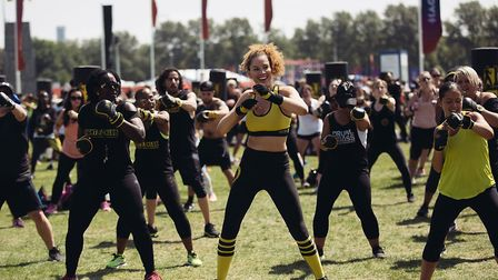 Fight Klub are back to run their fitness events on Hackney Marshes. Picture: Virgin Sport.