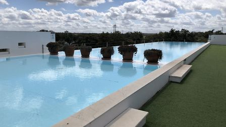 The view from the roof terrace at theTivoli Évora. Picture: Emma Bartholomew