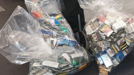 The tobacco seized by Hackney Council officers. Picture: Hackney Council