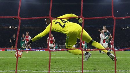 Tottenham Hotspur's Lucas Moura scores his side's third goal of the game during the Champions League