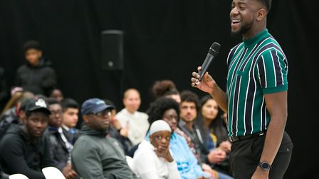 Jermain Jackman at the launch of the Hackney Young Futures Commission. Picture: Gary Manhine/ Hackne