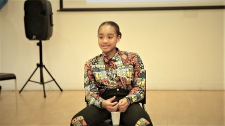 Makaylah Williams, 12, has had her first book published. Picture: Davis Williams.