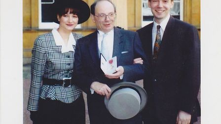 Gerry Isaaman after being presented with his OBE in 1994. Picture: Isaaman family
