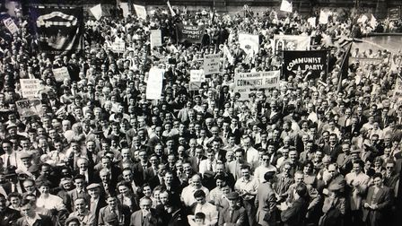 A Communist party rally