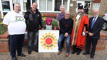 The launch event for the annual Lowestoft in Bloom competition back in April. Picture: Sid Cole.