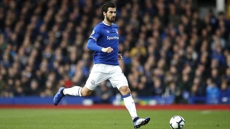Andre Gomes in action for Everton while on loan from Barcelona (pic: Martin Rickett/PA Images).