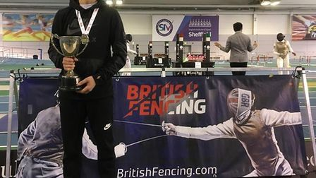 Dario Stenbeck-Schiavo won gold at the British Youth Championships (pic: ZFW Fencing)