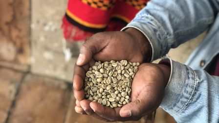 Markos imports coffee beans from his native Ethiopia and roasts them each day. Picture: Emma Barthol
